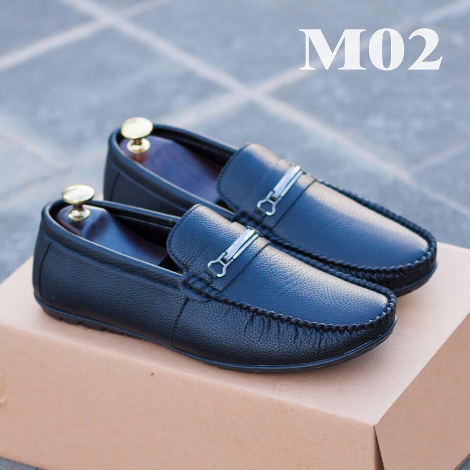 Giày lười nam- giày nam da bò thật- giày lười nam Hàn Quốc- giày lười da nam- Anh Cường- bảo hành 1 năm