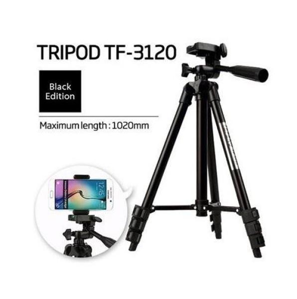 Giá Chân máy ảnh Tripod 3120 Mẫu Mới nhất 2019 tặng kèm đầu kẹp, Chống Rung