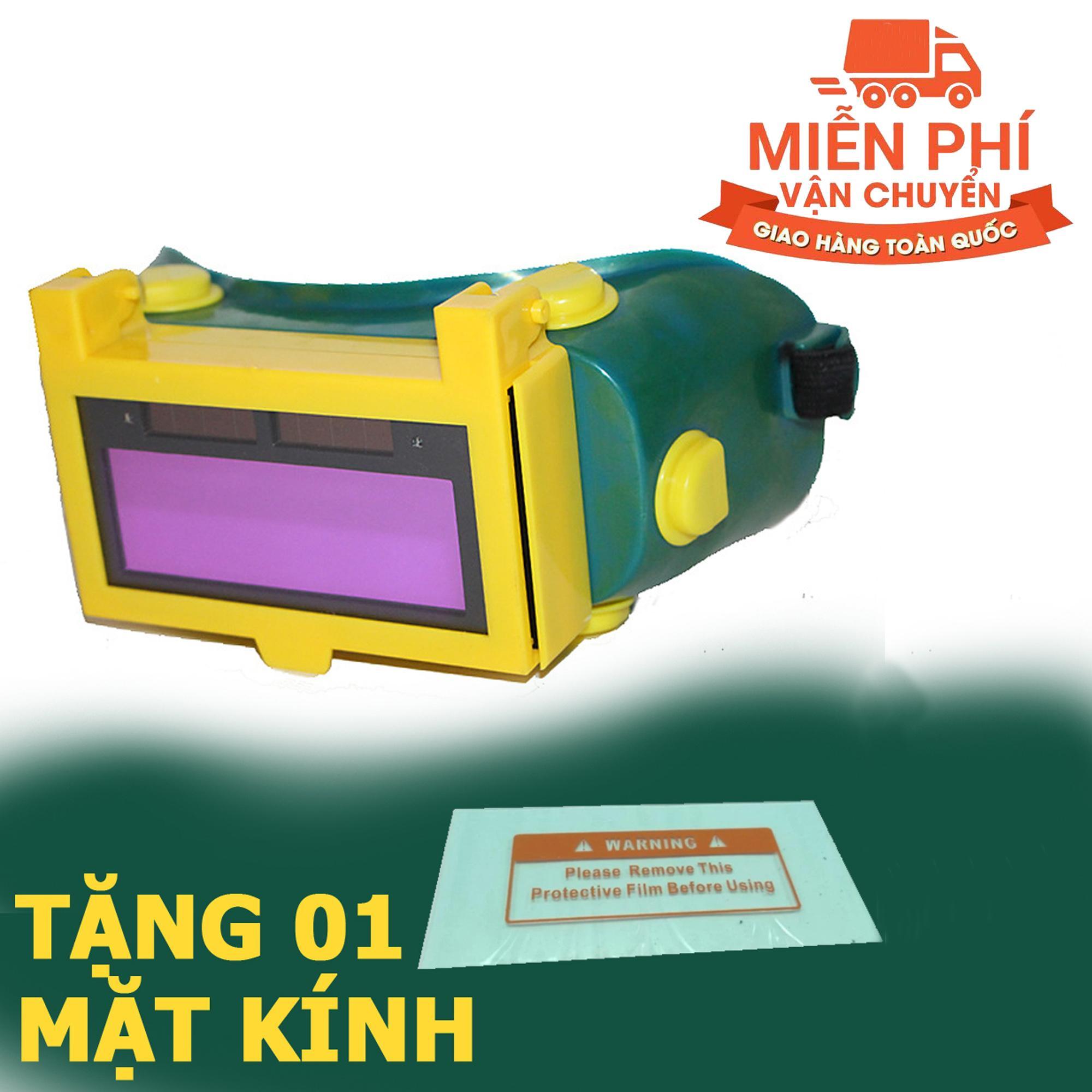 Kính hàn điện tử tự động cảm biến ánh sáng KH02 + Tặng tấm mica chắn xỉ hàn