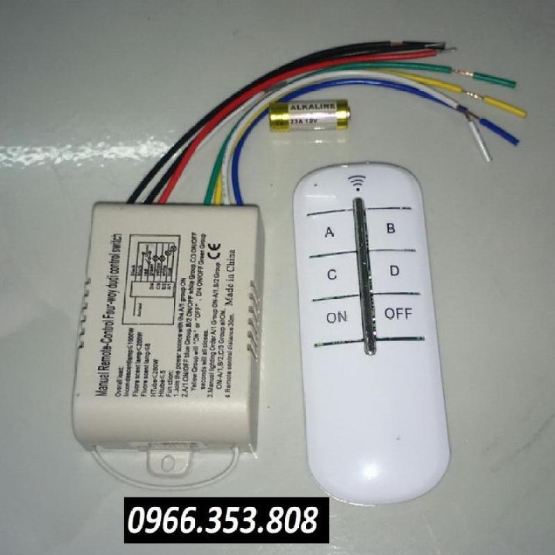 Công tắc điều khiển từ xa 4 thiết bị 1000W sóng RF 30 mét