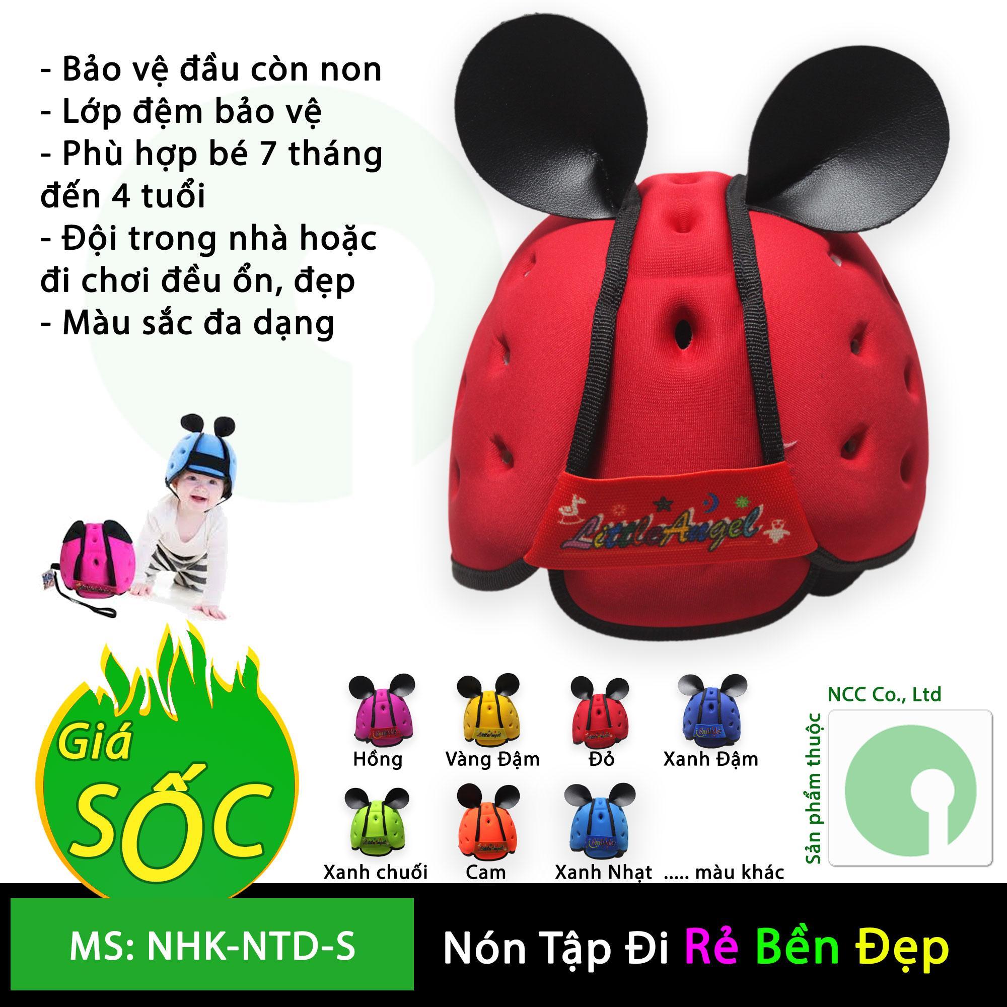 Hình ảnh Nón mũ bảo hiểm tập đi bảo vệ an toàn đầu cho bé - trẻ em từ 7 tháng đến 5 tuổi - NHK-NTD-S (nhiều màu)