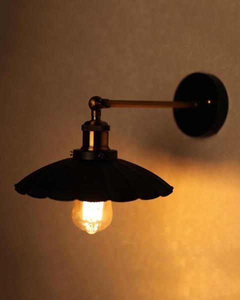 Đèn tường chao sắt hoa - kèm bóng LED EDISON 4W ánh sáng vàng