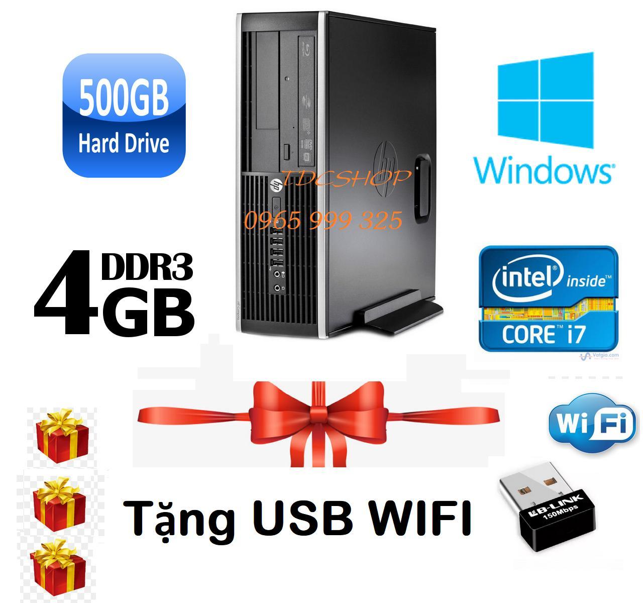 Thùng CPU HP 8200 Core i7 2600/ Ram 4gb/ Hdd 500gb, Tặng usb wifi, Bảo hành 1 đổi 1 trong 24 tháng - Hàng Nhập Khẩu.