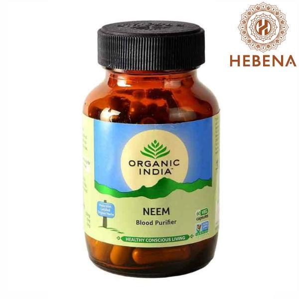 Viên uống thanh lọc máu Organic India Neem 60 viên - hebenastore