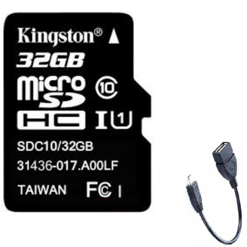 Thẻ nhớ Micro SDHC Kingston 32G và tặng Cáp OTG