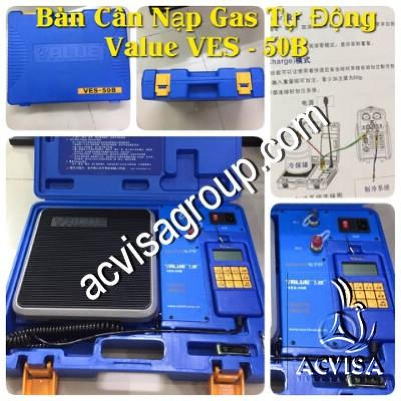 Bảng giá Bàn Cân Nạp Gas Tự Động VALUE Model VES- 50B Điện máy Pico