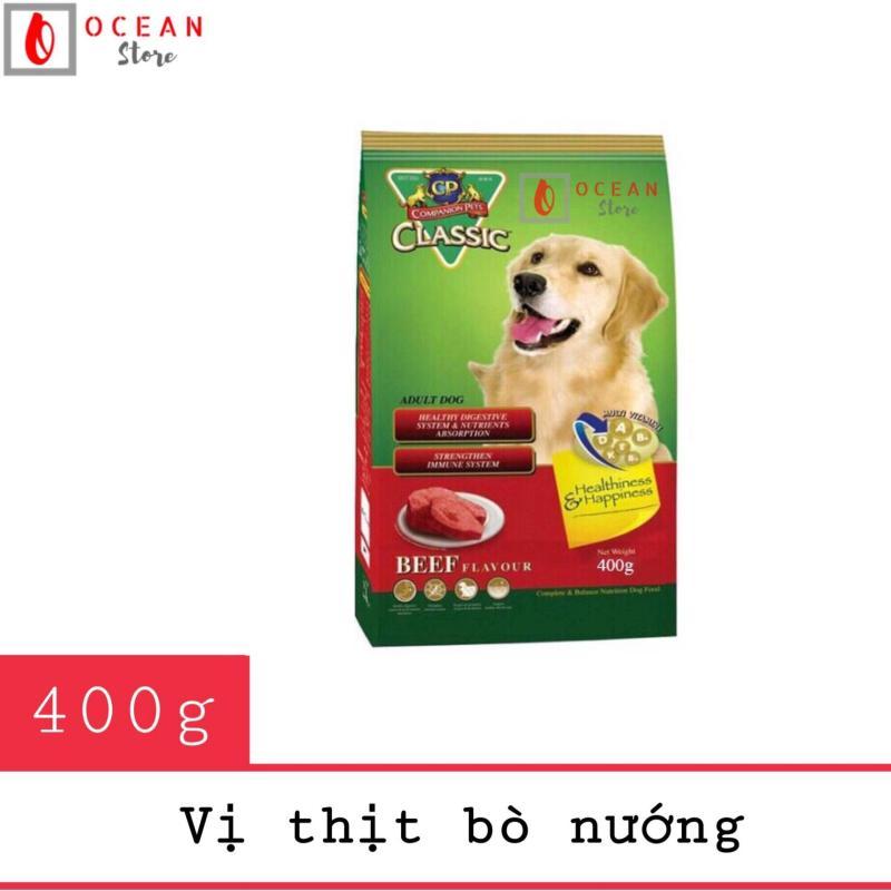 Thức ăn cho chó lớn vị thịt bò nướng - Thức ăn cho chó CP Classic 400g