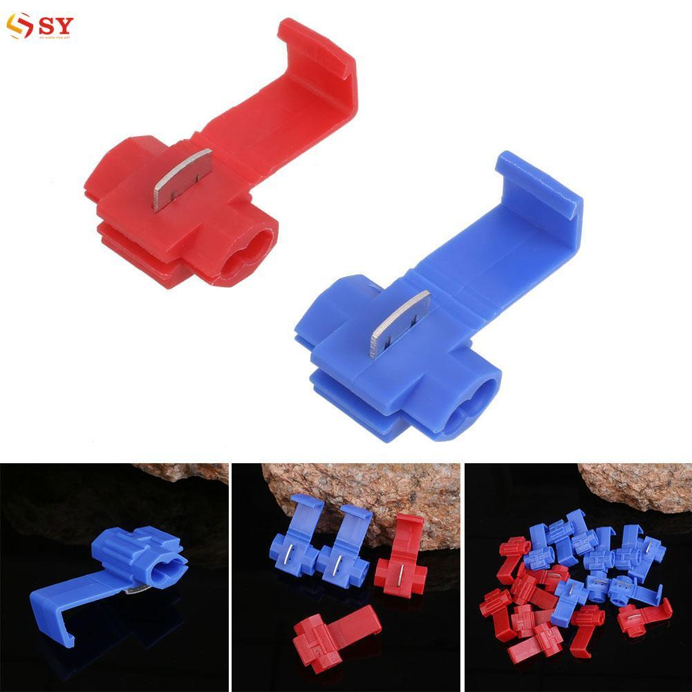 So Young Quick Splice Scotch Lock Connectors Electrical Crimp Terminals KW-2 Blue+Red - intl
