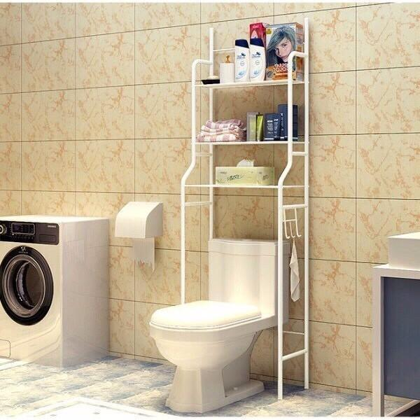 Kệ Để Đồ Nhà Tắm Nhà Vệ Sinh, Kệ Máy Giặt 3 Tầng Đa Chức Năng Tiện Lợi Tiết Kiệm Không Gian