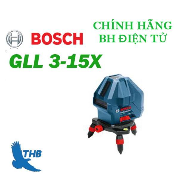 Máy cân mực Laser 2 tia dọc, 1 tia ngang Bosch GLL3-15X