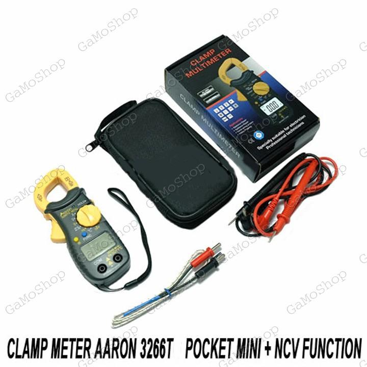 Ampe kìm bỏ túi Aaron 3266TD/TG chức năng NCV ,đo tụ, nhiệt độ, tần số Hz
