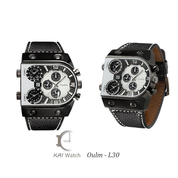Đồng Hồ Nam dây da  OULM -L30 Thời trang độc lạ -  KAI WATCH bán chạy