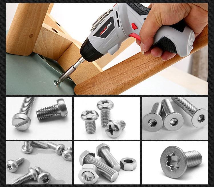 Bộ máy khoan và vặn ốc vít kèm 45 chi tiết joust max Giá Tốt 360 (Trắng)