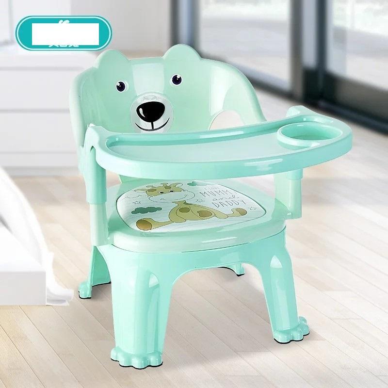 Ghế ăn Dặm Hình Gấu 2 Trong 1 Có đệm (xanh) - (bq340-Xanh) By Gicoly Việt Nam (hà Nội).