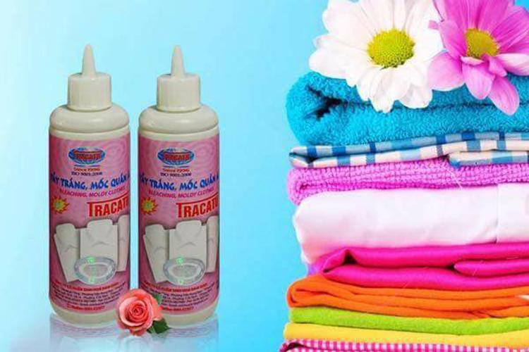 Combo 2 lọ tẩy trắng, tẩy mốc quần áo Tracatu 120ml cho quần áo sạch bong sáng bóng