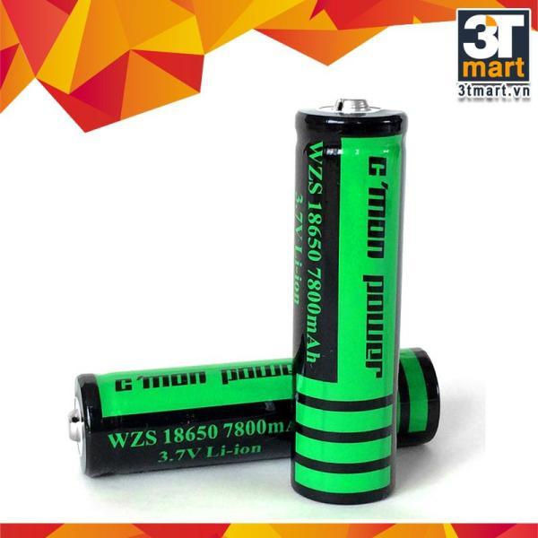 Bộ 2 pin sạc li-ion 18650 CMON POWER 7800mAh 3.7V (Dùng cho đèn pin - xanh lá)