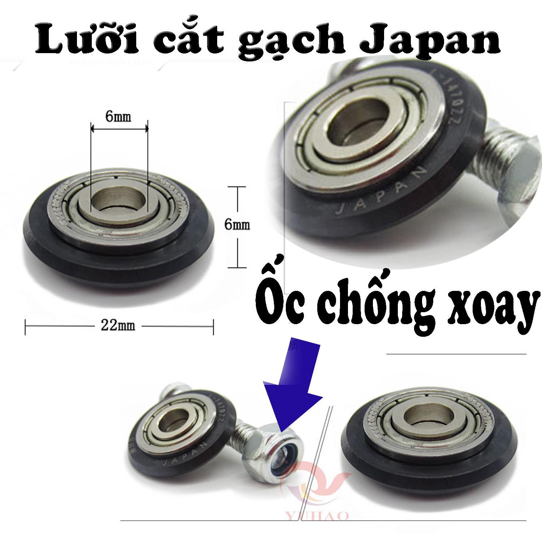 1 bộ Lưỡi cắt gạch men cho máy bàn đẩy japan + kèm 1 trục