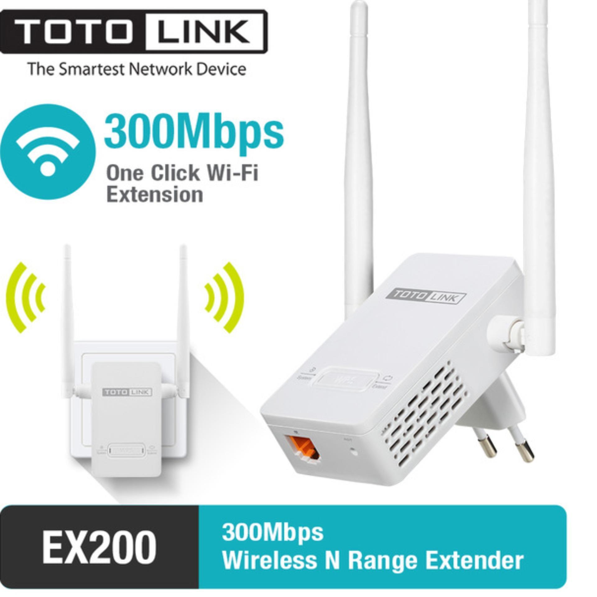 Bộ Mở Rộng Sóng Wifi Chuẩn N Tốc Độ 300Mbps Totolink EX200 (Trắng) - Hãng Phân Phối Chính Thức Giá Hot Siêu Giảm tại Lazada