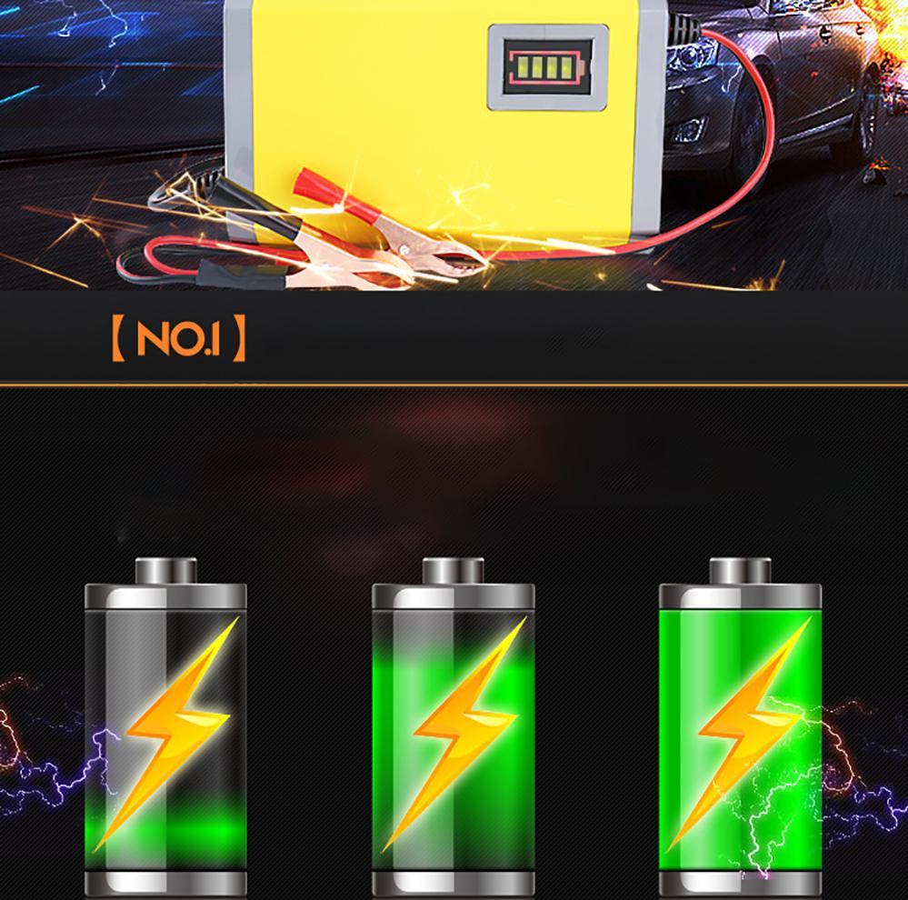Hình ảnh Sạc xe ninja, Cục sạc xe máy yamaha, Gia sac - Bộ sạc Ắc quy 12V thông minh màn hình led tự ngắt khi sạc đầy - Loại chuẩn rất bền - Mã BH 736