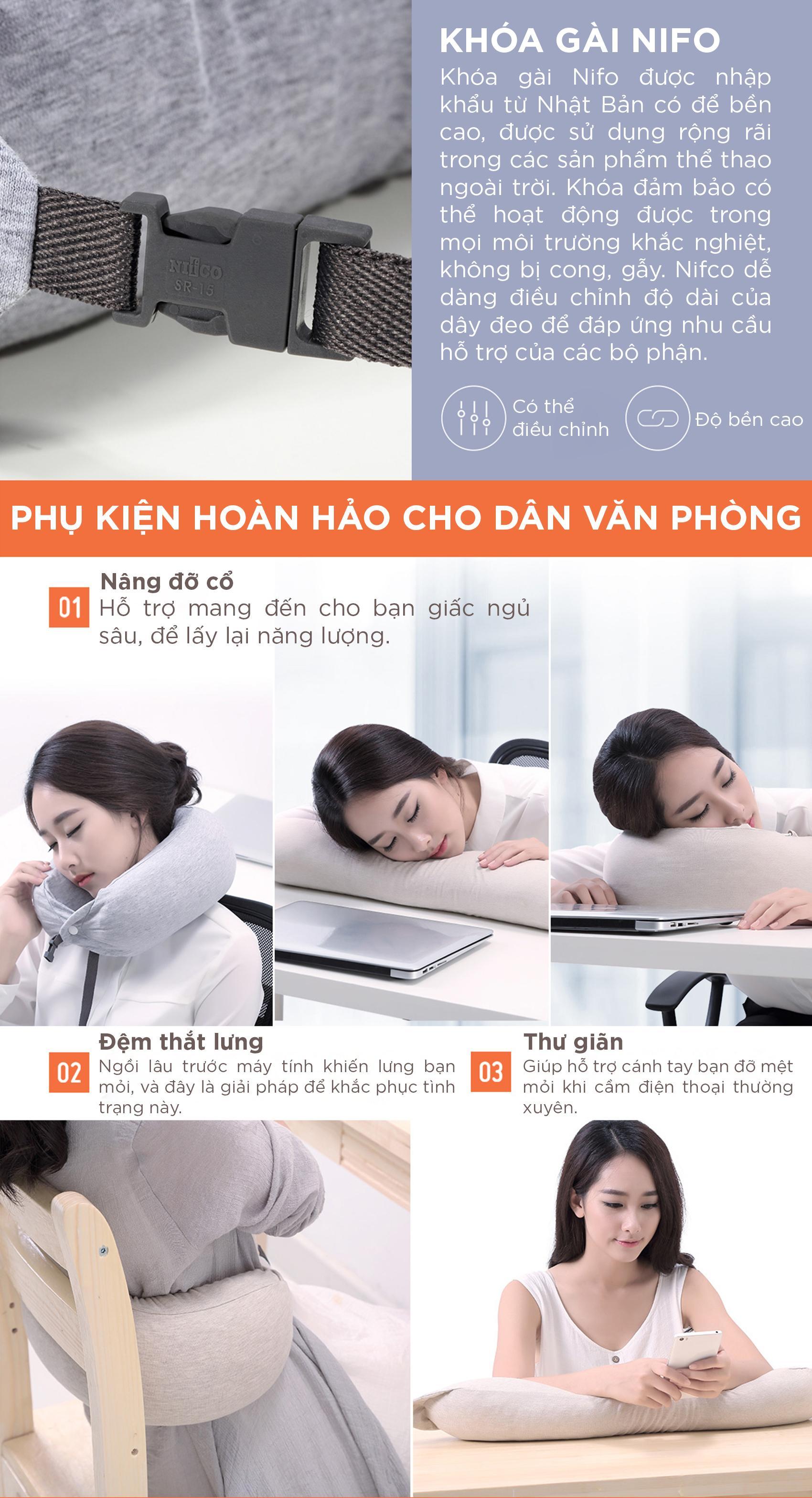 Gối cổ du lịch chữ U Xiaomi 8H