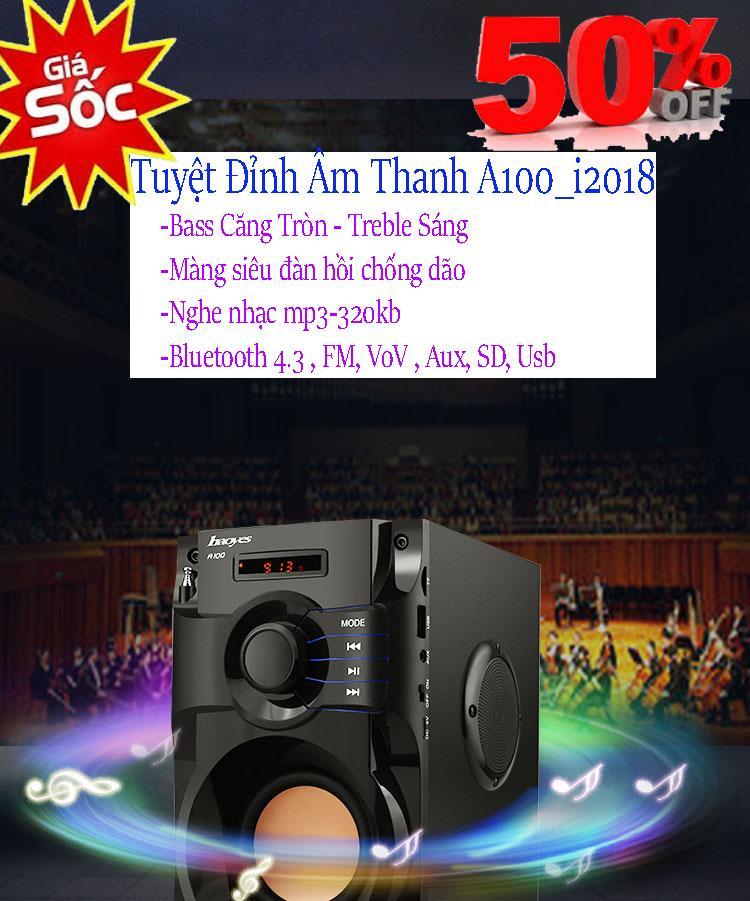 Hình ảnh App Mobile Nhạc Của Tôi, Tuyệt Đỉnh Âm Thanh Loa A100 - 203 Korea, Bass ấm, Treble Sáng, Tiếng Trong, Nghe Nhạc Mp3 320Kb , Bluetooth 3.0, Fm 50Hz, Giá Sỉ Giảm 25% Mã Sp 026