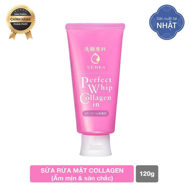 Sữa rửa mặt Collagen Senka Perfect Whip Collagen In 120g nhập khẩu