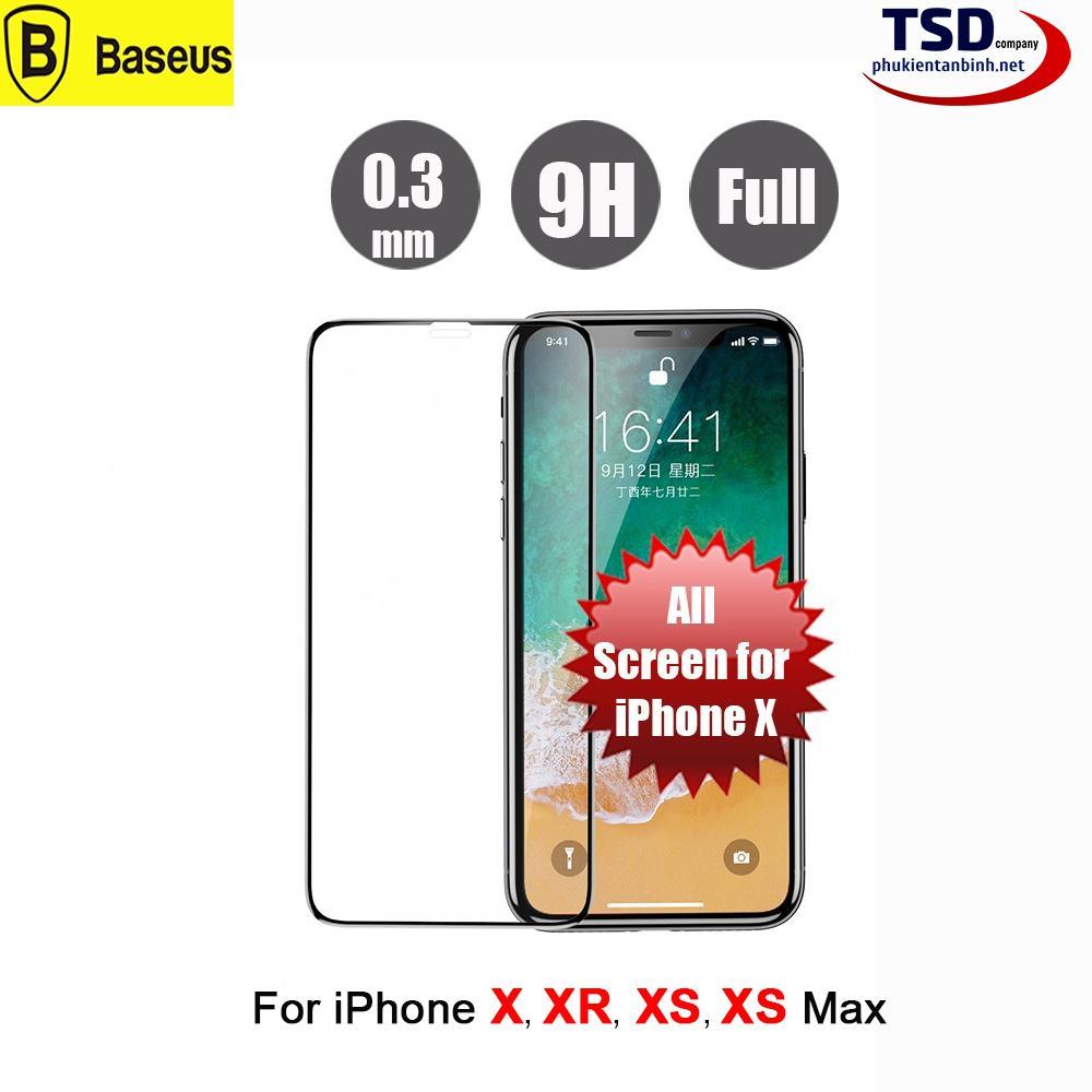 Hình ảnh Kính Cường Lực iPhone X Full Màn Hình Baseus - X , XR , XS , XS MAX
