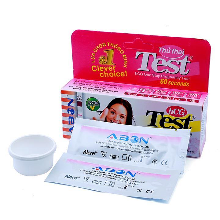 Que thử thai Abon hộp 2 que và Túi 1 Test Tỷ Lệ Chính Xác 100%