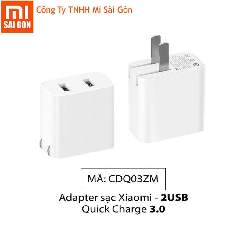 Adapter sạc Xiaomi 2 USB - Quick Charge 3.0 CDQ03ZM