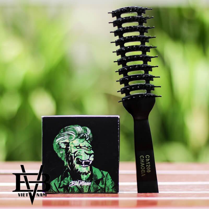Sáp vuốt tóc Blumaan Sư Tử Monarch Matte 74ml + Tặng Lược tạo kiểu Chaoba Cao Cấp