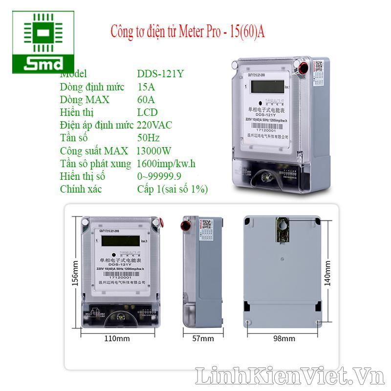 Công tơ điện tử Meter Pro - 15(60)A