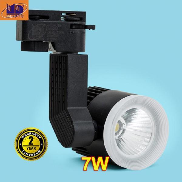 Đèn Led Rọi ray DG cob vỏ đen ánh sáng vàng 7W - MD68