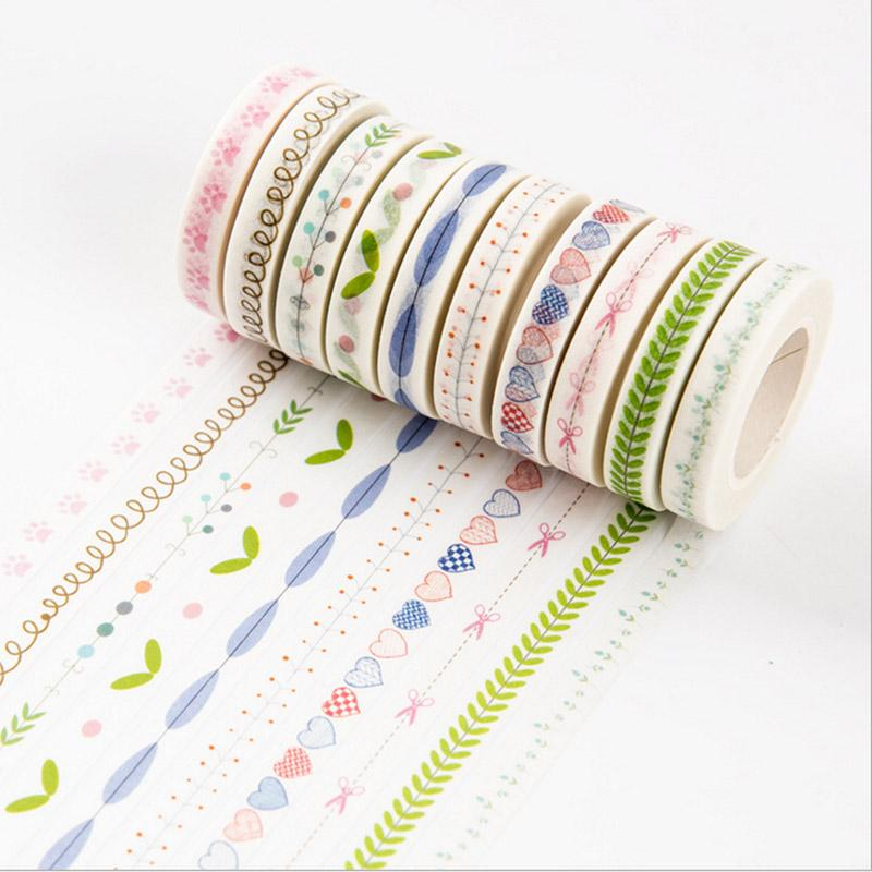 Mua 3rolls 10M DIY Mini Cute Kawaii Decorative Scotch Glue Washi Tape Floral Adhesive Masking Duct Tape For Scrapbooking - intl