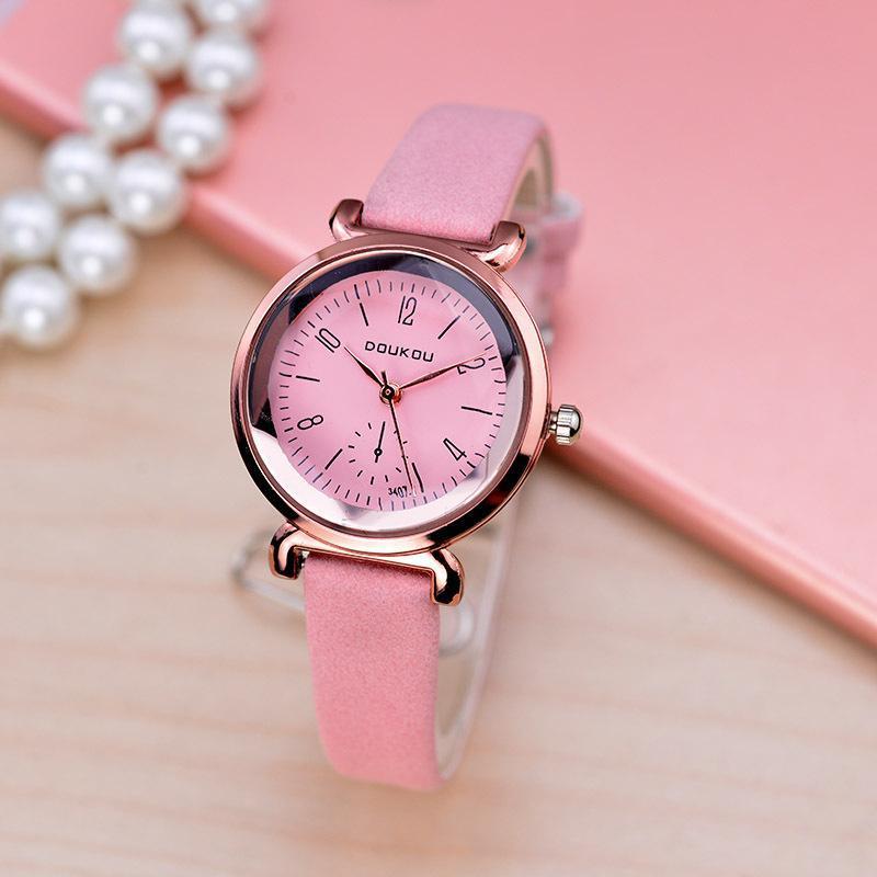 Nơi bán Đồng hồ nữ DOUKOU mặt kính vát khối kim cương tráng shapphire tinh tế sang trọng TPO-DK7117