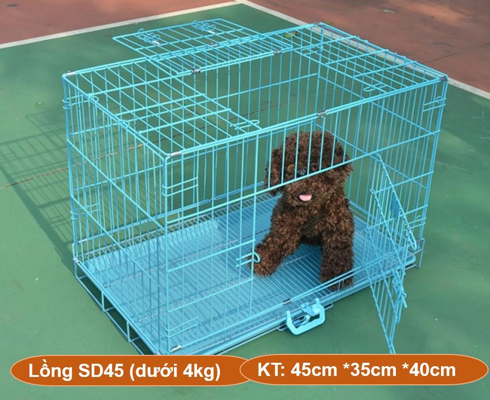Hn-Chuồng Nuôi Chó Mèo (hanpet Sd) CÓ 4 Size - Lồng Nuôi Chó Mèo - Chuồng Chó - Lồng Chó Gấp Gọn Sơn Tĩnh điện (nh By Hanpet.hanoi.