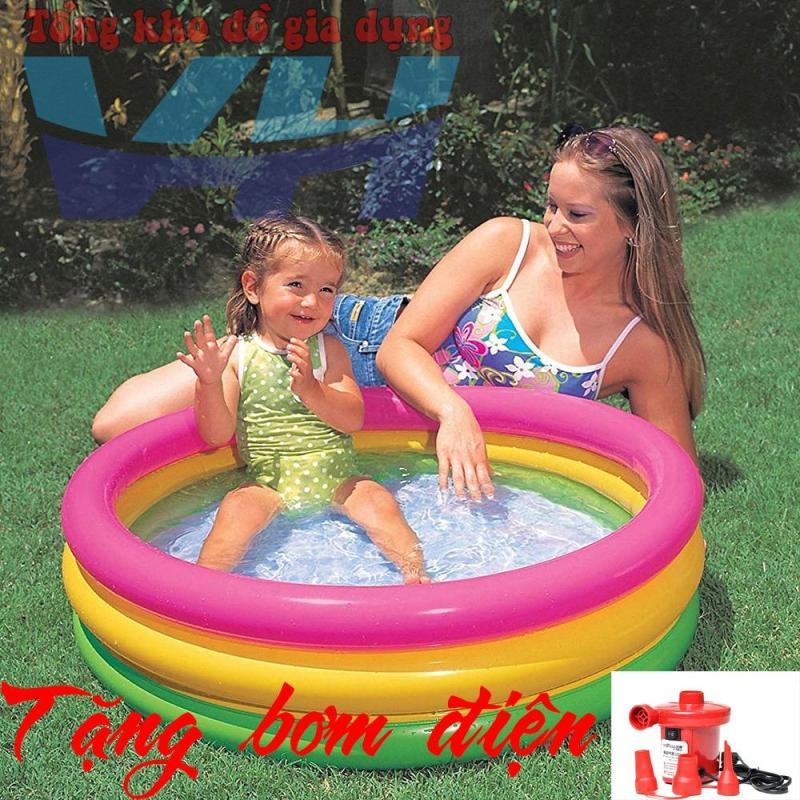 Intex 58924 Bể bơi trẻ em 1 đến 5 tuổi  kích thước 86x25 + Bơm điện Việt Hiếu