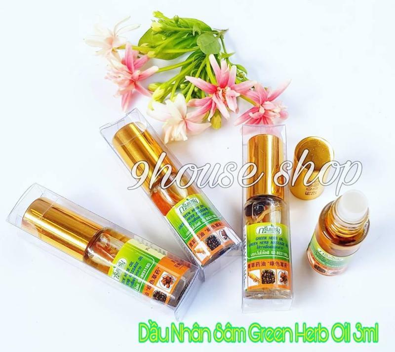 (3ml) 01 Dầu Nhân Sâm Ginseng Green Herb Oil (nhập khẩu Thái Lan) nhập khẩu
