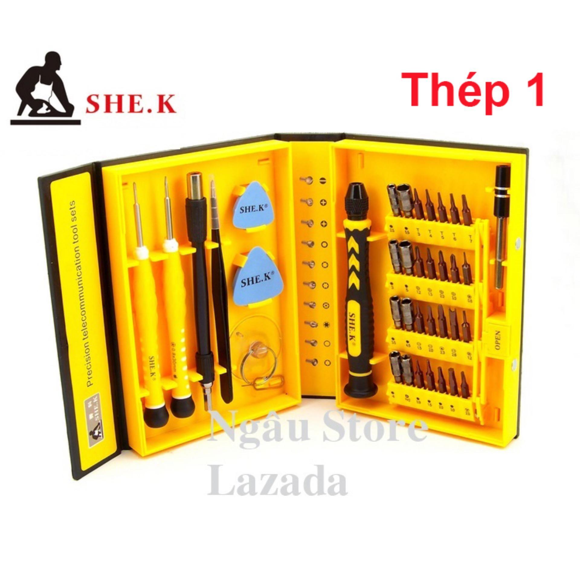 Bộ đồ nghề dụng cụ sửa tháo lắp điện thoại laptop chuyên dụng SHE.K (Thép 1)