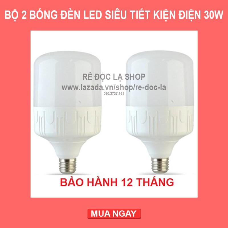Bộ 2 bóng đèn led trụ 5W, 10W,13W, 15W, 20W, 30W siêu sáng siêu - tiết kiệm điện (Ánh sáng Trắng)