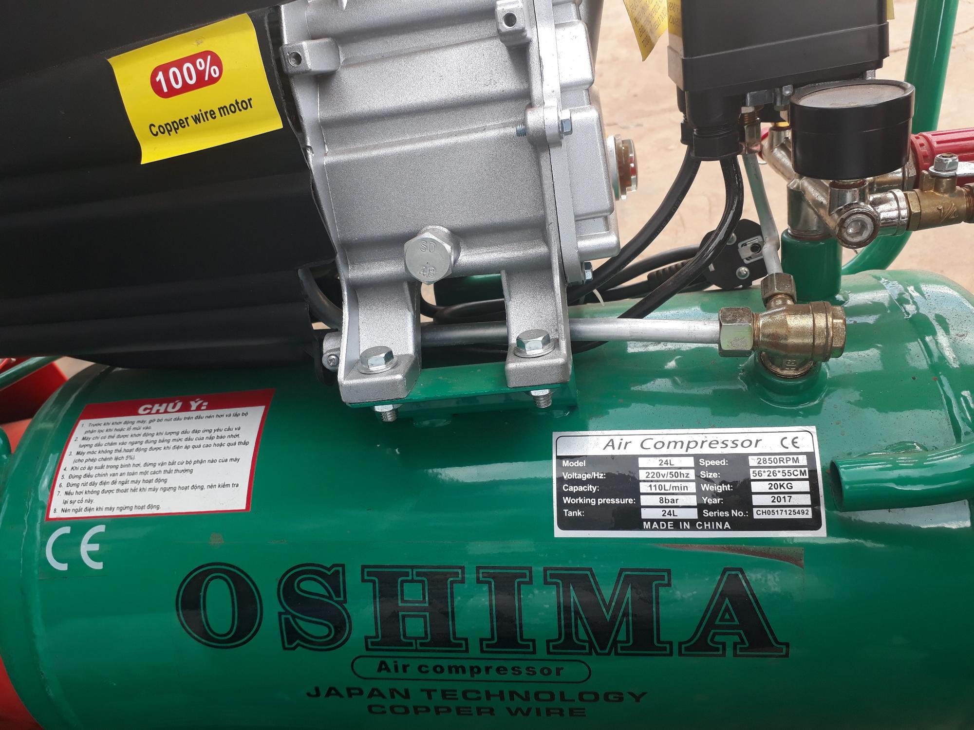 bình nén khí hơi OSHIMA 24L