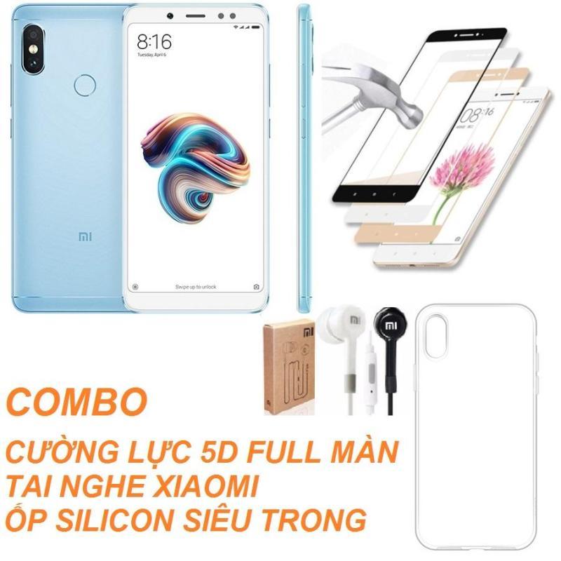 Xiaomi Redmi Note 5 Pro 64GB Ram 4GB (Xanh) + Ốp lưng + Cường lực 5D Full màn + Tai nghe Mi  - Hàng nhập khẩu