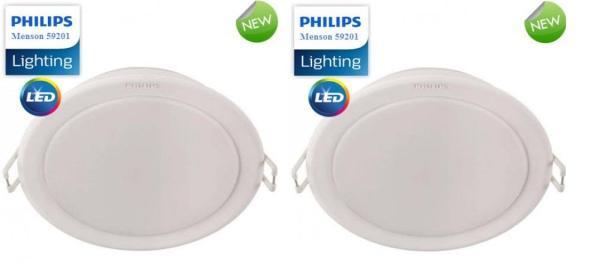 [Chính Hãng] Bộ 2 Đèn Led Downlight Âm trần Philips MESON 59447 Ø90 5W Ánh Sáng Trắng