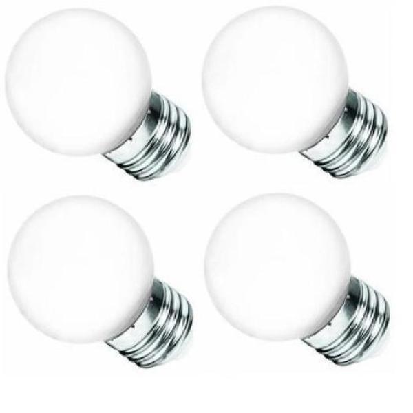 Bộ 4 Đèn LED Bulb Điện Quang ĐQ LEDBU14G45 1W E27 Daylight Chụp Mờ
