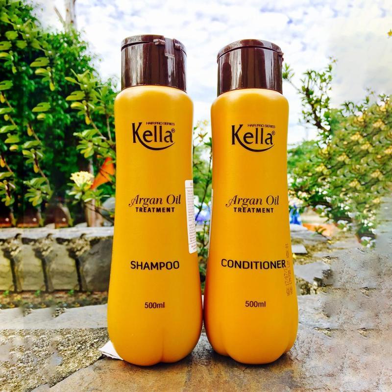 Cặp gội xả Kella Argan Oil 500ml dưỡng tóc hiệu quả nhập khẩu