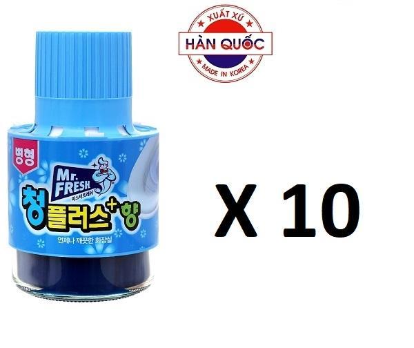 Hình ảnh Bộ 10 Chai thả bồn cầu tự động làm sạch diệt khuẩn và làm thơm Mr.Fresh GTA833