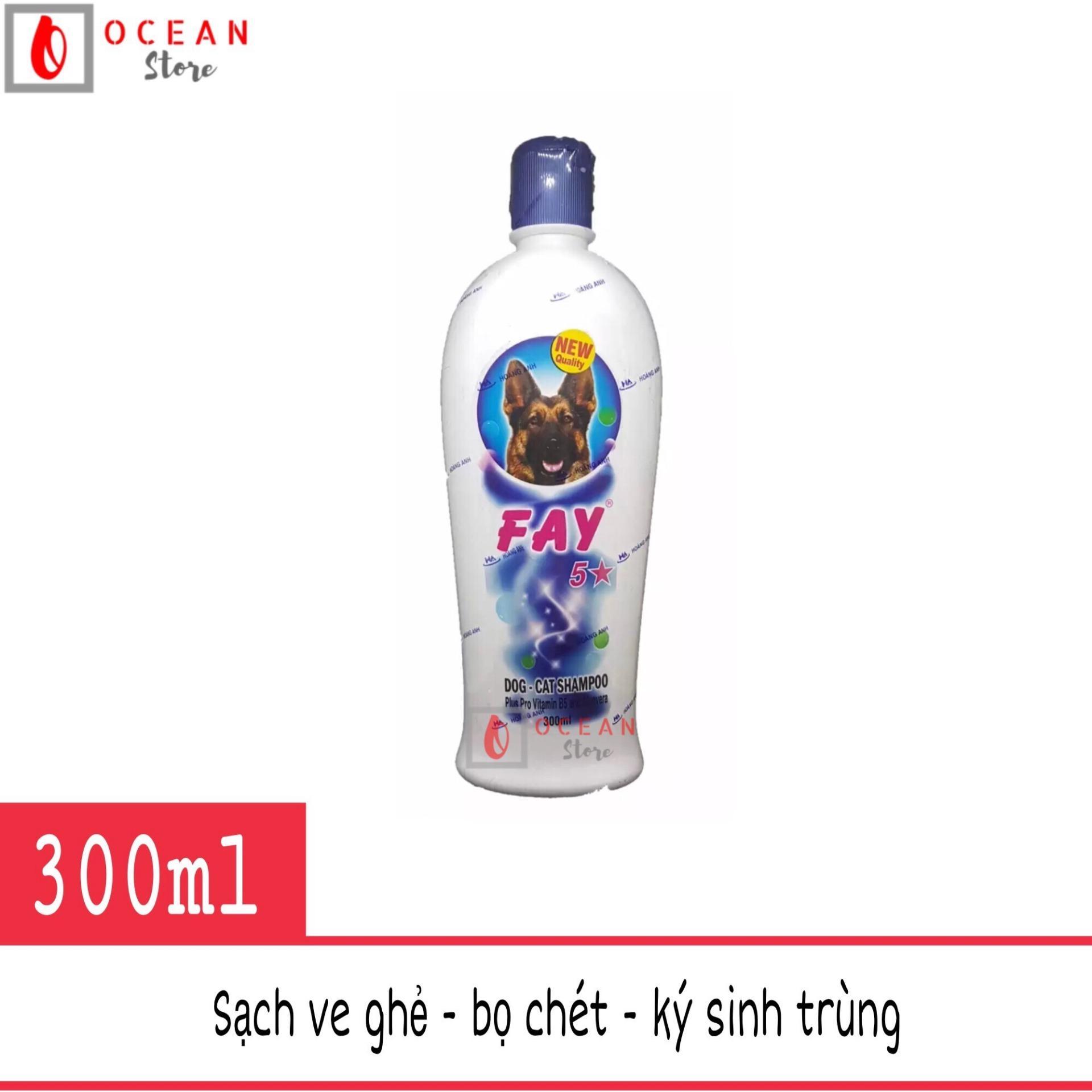 Sữa tắm diệt ve ghẻ, bọ chét, dưỡng lông thơm lâu cho chó mèo - Fay 5 sao 300ml Nhật Bản
