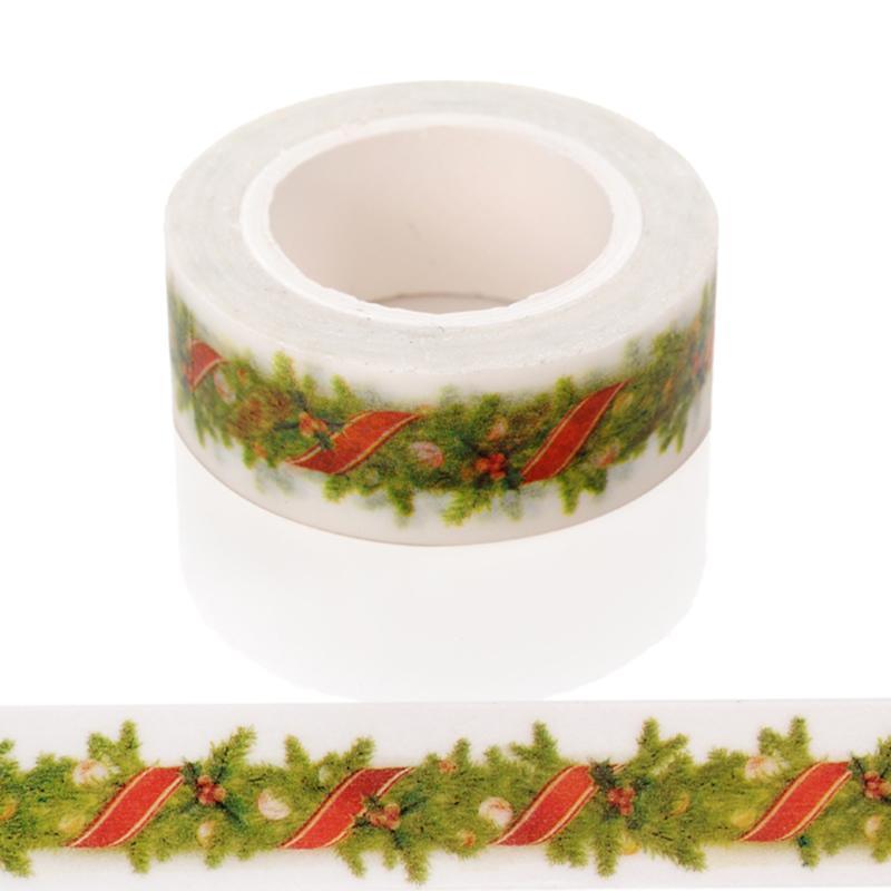 Mua Adhesive Tape Christmas Pattern Print Scrap Booking Diy Craft Sticky Deco Masking Japanese Washi Tape Paper - intl