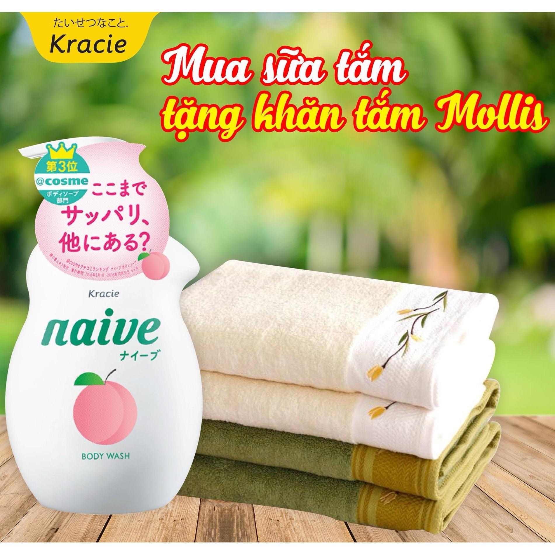 Chiết Khấu Sữa Tắm La Đao Naive 530Ml Tặng Khăn Tắm Mollis Hà Nội