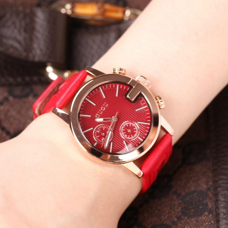 Nơi bán (HÀNG CHÍNH HÃNG 100%) Đồng hồ nữ Guou 5 Kim dây da hàng cao cấp