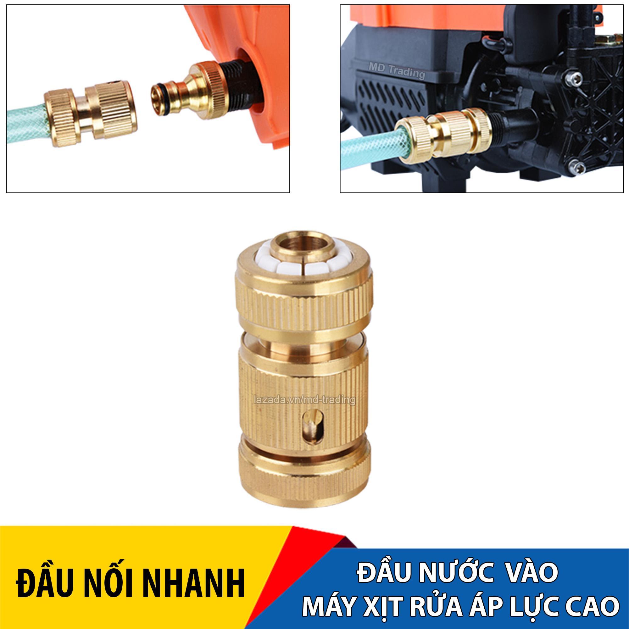 Khớp nối nhanh dây cấp nước đầu vào máy TOWA, tháo lắp dây cấp nước vô cùng nhanh, phụ kiện nối nhanh đầu vào máy rửa xe áp lực cao, khớp nối bằng đồng chắc chắn, phù hợp với đa số máy phun xịt rửa, máy rửa xe áp lực cao, máy